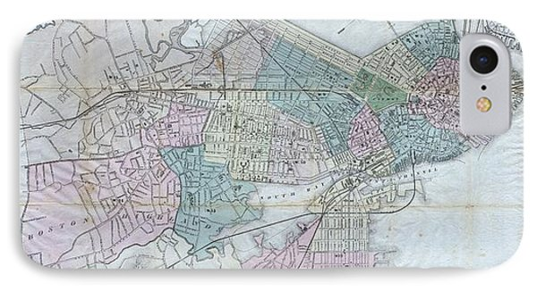 Vintage Map Of Boston Massachusetts - 1870 IPhone Case