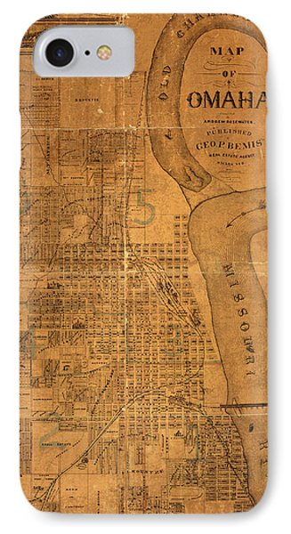 Vintage Map Of Omaha Nebraska 1878 IPhone Case