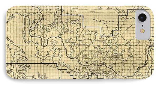 Vintage Map Of The Grand Canyon - 1908 IPhone Case