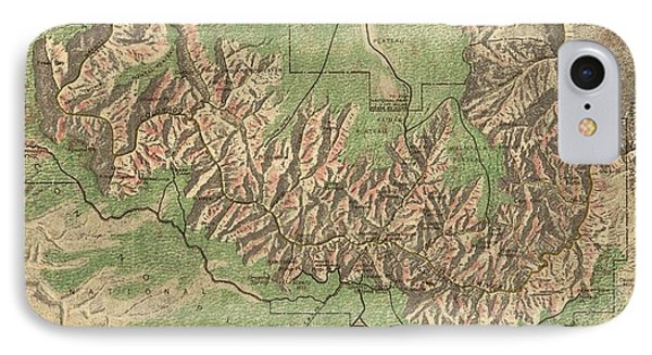 Vintage Map Of The Grand Canyon - 1926 IPhone Case