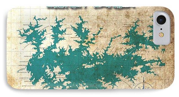 Vintage Map - Sidney Lanier Ga IPhone Case by Greg Sharpe
