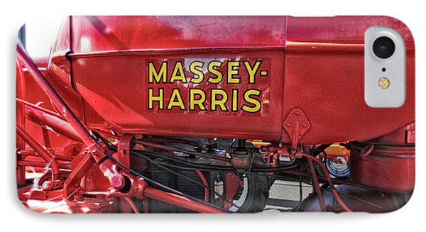 IPhone Case featuring the photograph Vintage Massey Harris Tractor by Ann Powell