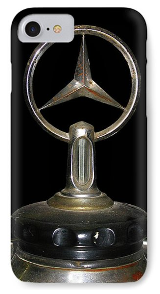 IPhone Case featuring the photograph Vintage Mercedes Radiator Cap by David and Carol Kelly