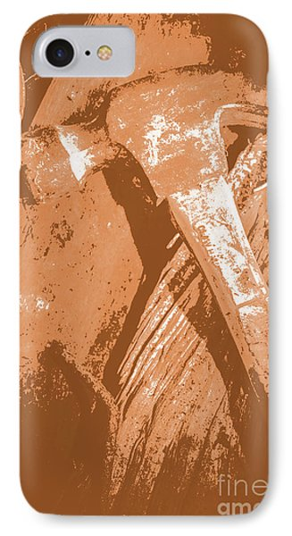 Vintage Miners Hammer Artwork IPhone 7 Case