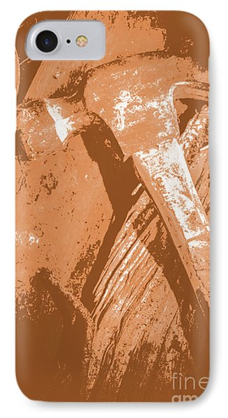 Vintage Miners Hammer Artwork IPhone Case by Jorgo Photography - Wall Art Gallery
