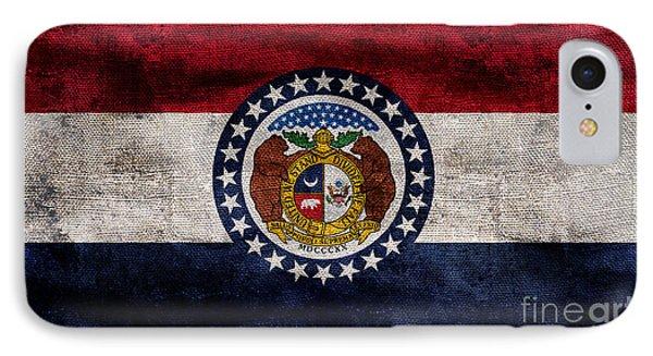 Vintage Missouri Flag IPhone Case by Jon Neidert
