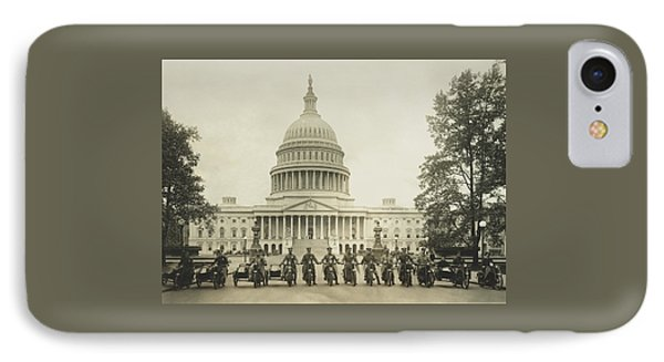 Vintage Motorcycle Police - Washington Dc  IPhone 7 Case by War Is Hell Store