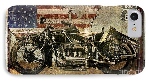 Vintage Motorcycle Unbound IPhone Case