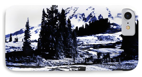 Vintage Mount Rainier With Antique Car Early 1900 Era... IPhone Case