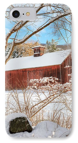 Vintage New England Barn Portrait IPhone Case