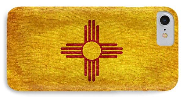 Vintage New Mexico Flag IPhone Case by Jon Neidert