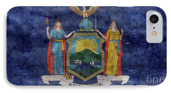 Vintage New York Flag IPhone Case by Jon Neidert