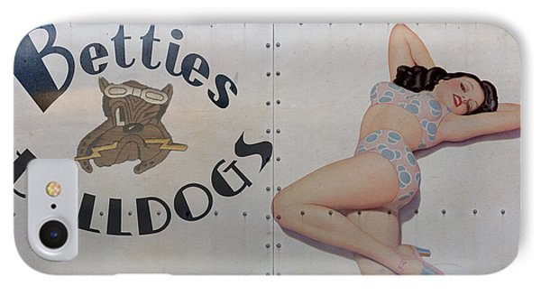 Vintage Nose Art Betties Bulldogs Phone Case by Cinema Photography