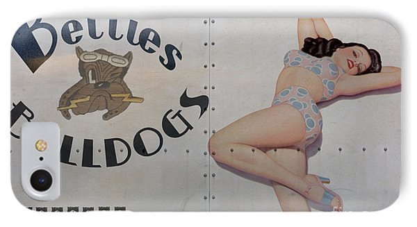 Vintage Nose Art Betties Bulldogs IPhone Case