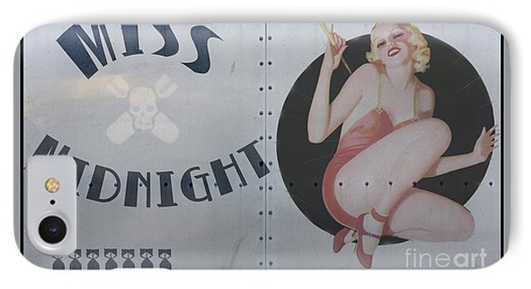 Vintage Nose Art Miss Midnight Phone Case by Cinema Photography