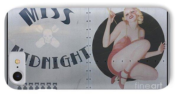 Vintage Nose Art Miss Midnight IPhone Case