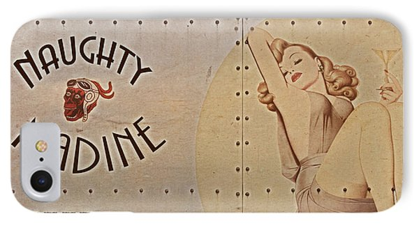 Vintage Nose Art Naughty Nadine IPhone Case
