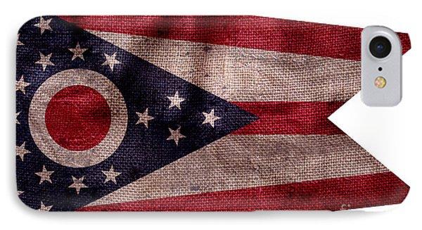 Vintage Ohio Flag IPhone Case by Jon Neidert