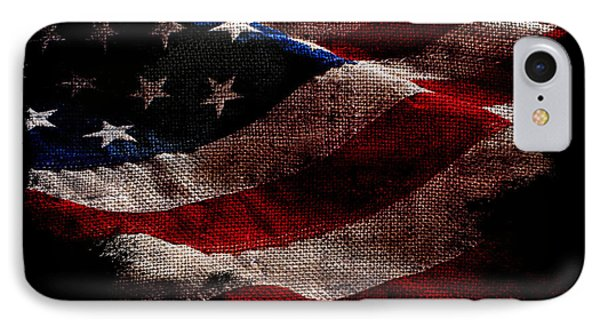 Distressed Old Glory On Black IPhone Case