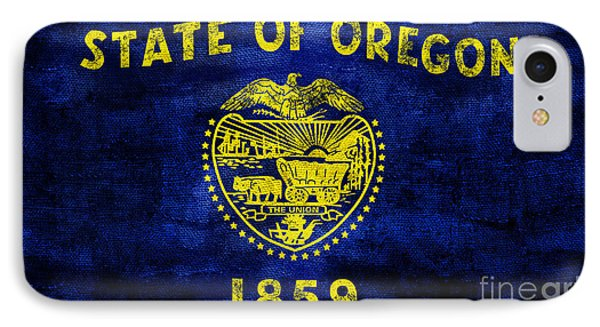 Vintage Oregon Flag IPhone 7 Case by Jon Neidert