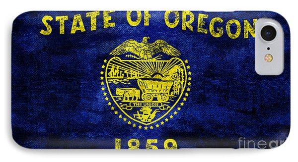 Vintage Oregon Flag IPhone Case by Jon Neidert