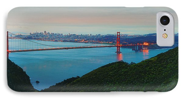 Vintage Panorama Of The Golden Gate Bridge From The Marin Headlands - San Francisco California IPhone Case by Silvio Ligutti