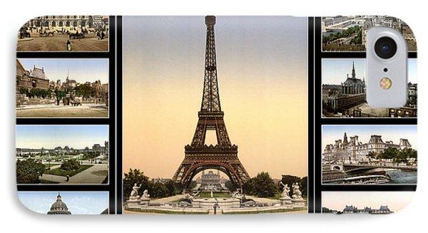 Vintage Paris 1900 IPhone Case by Andrew Fare