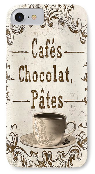 Vintage Paris Cafe Sign IPhone Case by Mindy Sommers