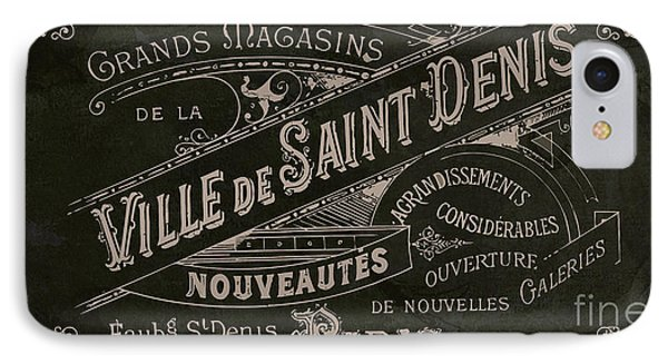Vintage Paris Sign IPhone Case by Mindy Sommers