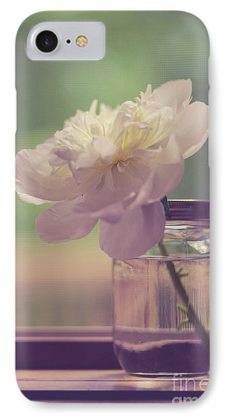 IPhone Case featuring the photograph Vintage Peony Flower Still Life by Edward Fielding