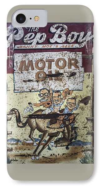 IPhone Case featuring the photograph Vintage Pep Boys Sign by Christina Lihani