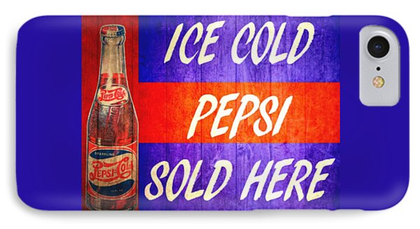 Vintage Pepsi Cola Barn Door IPhone Case by Dan Sproul