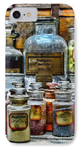 Vintage Pharmacy - So Many Chemicals IPhone Case by Paul Ward