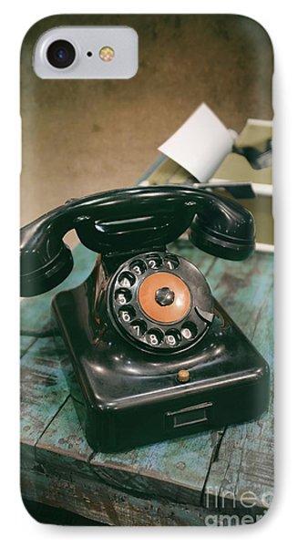 Vintage Phone IPhone Case by Carlos Caetano