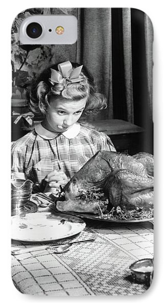 Vintage Photo Depicting Thanksgiving Dinner IPhone 7 Case by American School