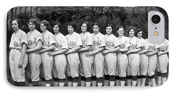 Vintage Photo Of Women's Baseball Team IPhone 7 Case by American School