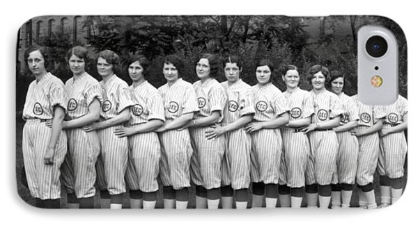 Vintage Photo Of Women's Baseball Team IPhone Case