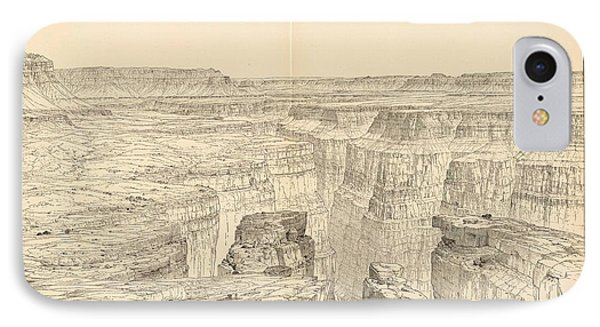 Vintage Pictorial Map Of The Grand Canyon - 1895 IPhone Case