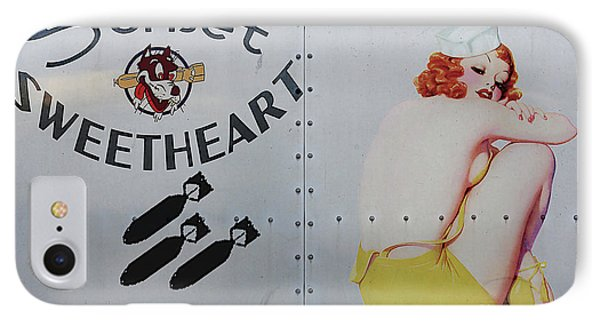Vintage Pinup Nose Art Sunset Sweetheart IPhone Case