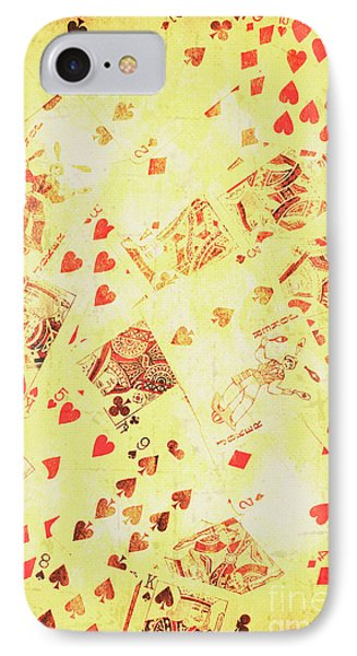 Vintage Poker Background IPhone Case by Jorgo Photography - Wall Art Gallery