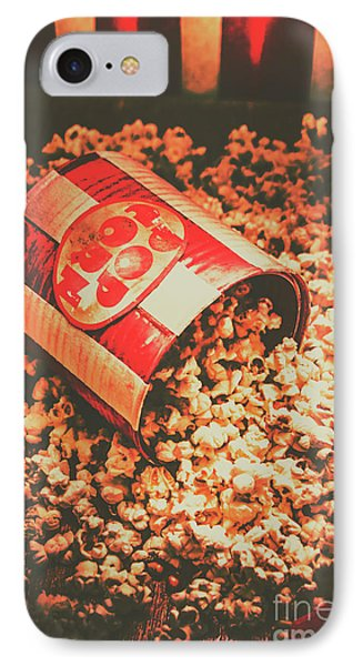Vintage Popcorn Tin. Faded Films Still Life IPhone Case by Jorgo Photography - Wall Art Gallery