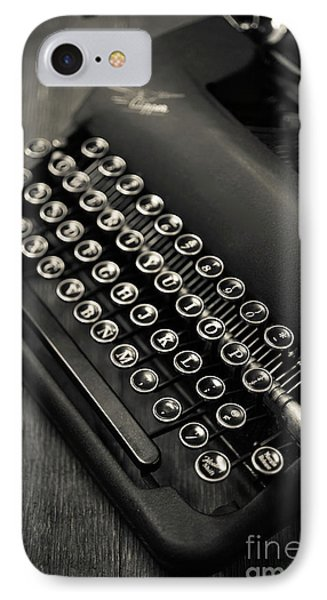 IPhone Case featuring the photograph Vintage Portable Typewriter by Edward Fielding