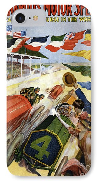 Vintage Poster Advertising The Indianapolis Motor Speedway IPhone Case