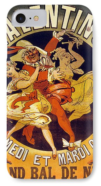 Vintage Poster For Cabaret Valentino  IPhone Case by Jules Cheret