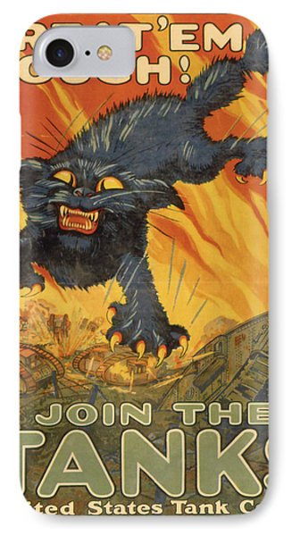 Vintage Poster - Join The Tanks IPhone Case by Vintage Images