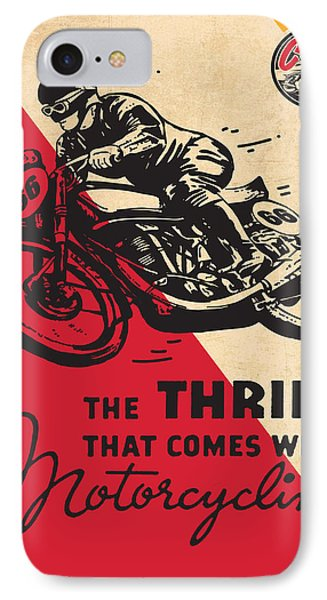Vintage Poster - Motorcycling IPhone Case by Vintage Images