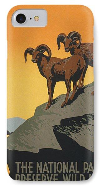 Vintage Poster - National Parks IPhone Case by Vintage Images