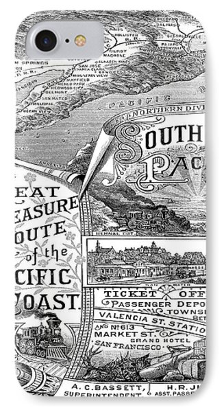 Vintage Poster - Pacific Coast IPhone Case by Vintage Images