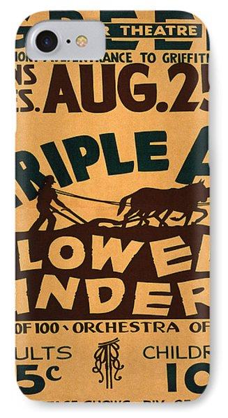 Vintage Poster - Plowed Under IPhone Case by Vintage Images