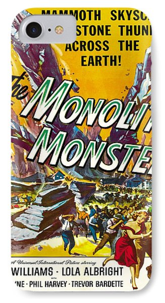 Vintage Poster - The Monolith Monsters IPhone Case by Vintage Images